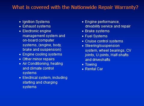Nationwide Repair Warranty Coverage for American & Import Auto Repair